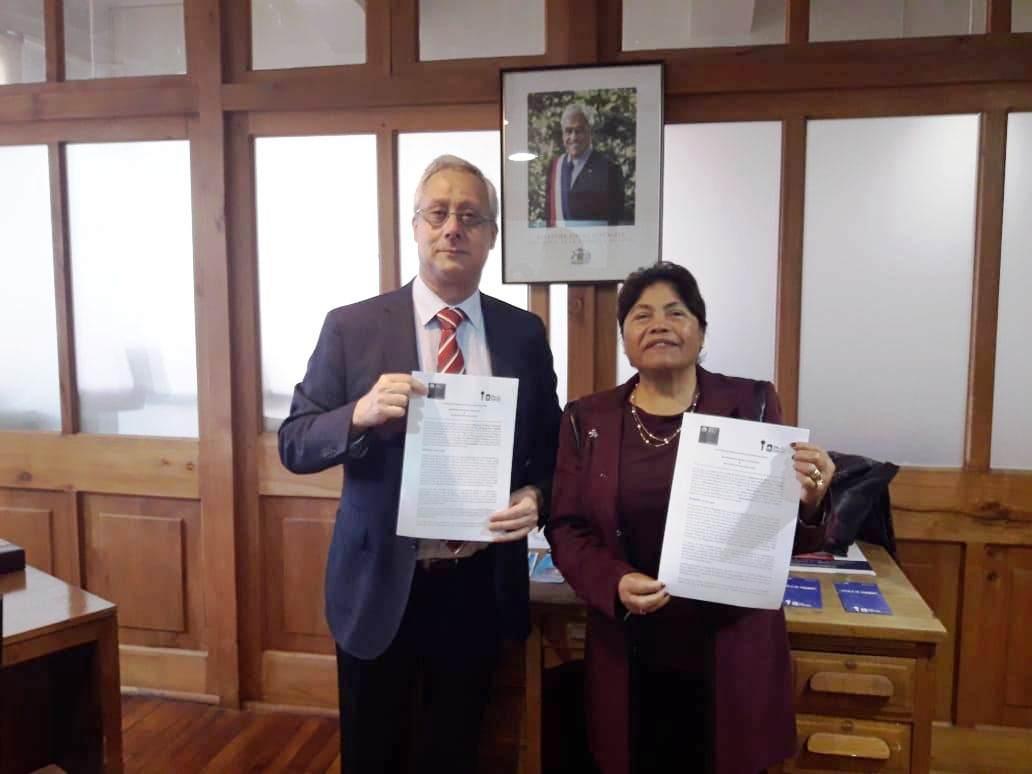 ALCALDESA FIRMA IMPORTANTE CONVENIO DE COLABORACIÓN CON EL MINISTERIO DE BIENES NACIONALES.