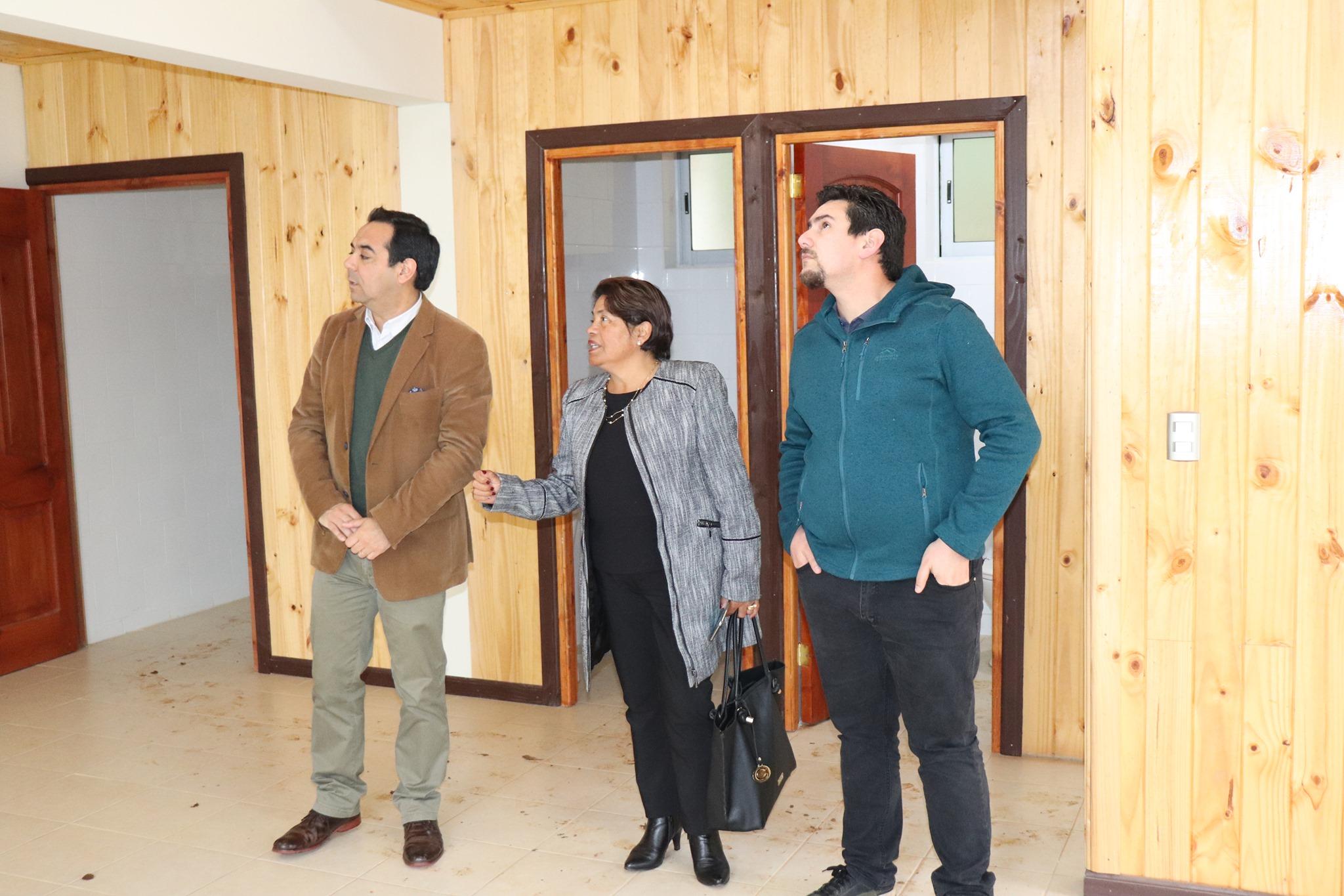 ALCALDESA DE PELLUHUE REALIZA VISITA DE INSPECCIÓN A DIVERSAS OBRAS REALIZADAS EN SECTOR DE QUILICURA .