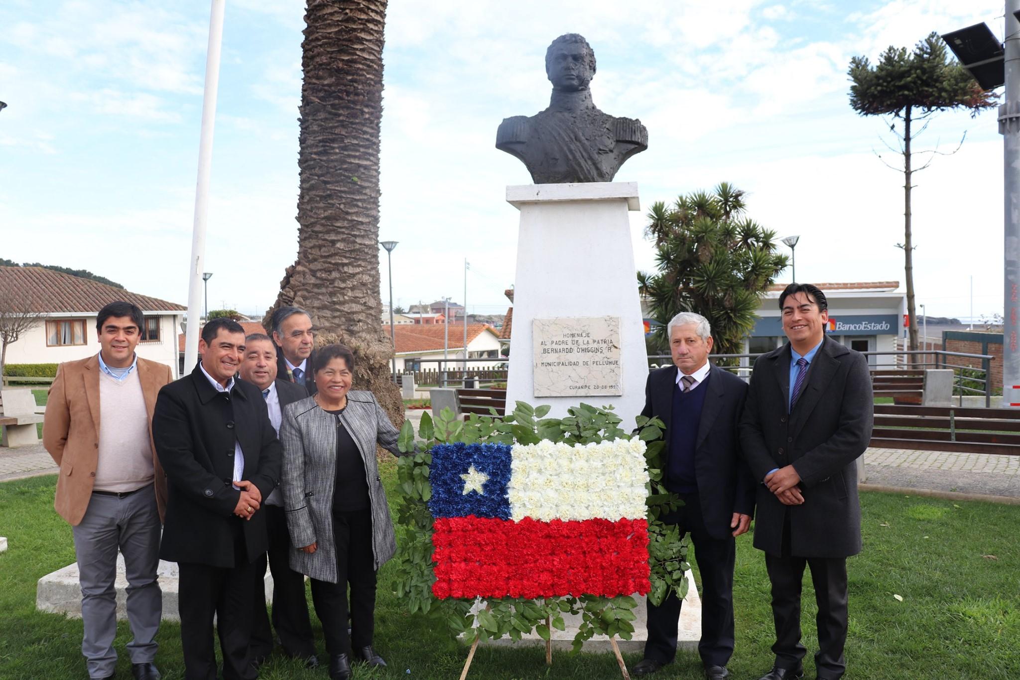 ACTO CONMEMORATIVO NATALICIO DE DON BERNARDO O'HIGGINS EN CURANIPE Y PELLUHUE.