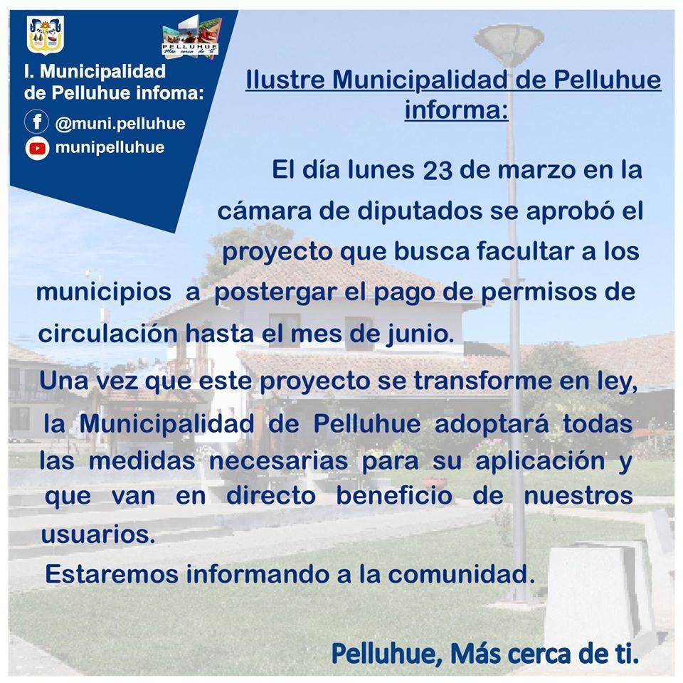Ilustre Municipalidad de Pelluhue informa: