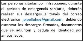 Juzgado Policía Local Pelluhue Informa