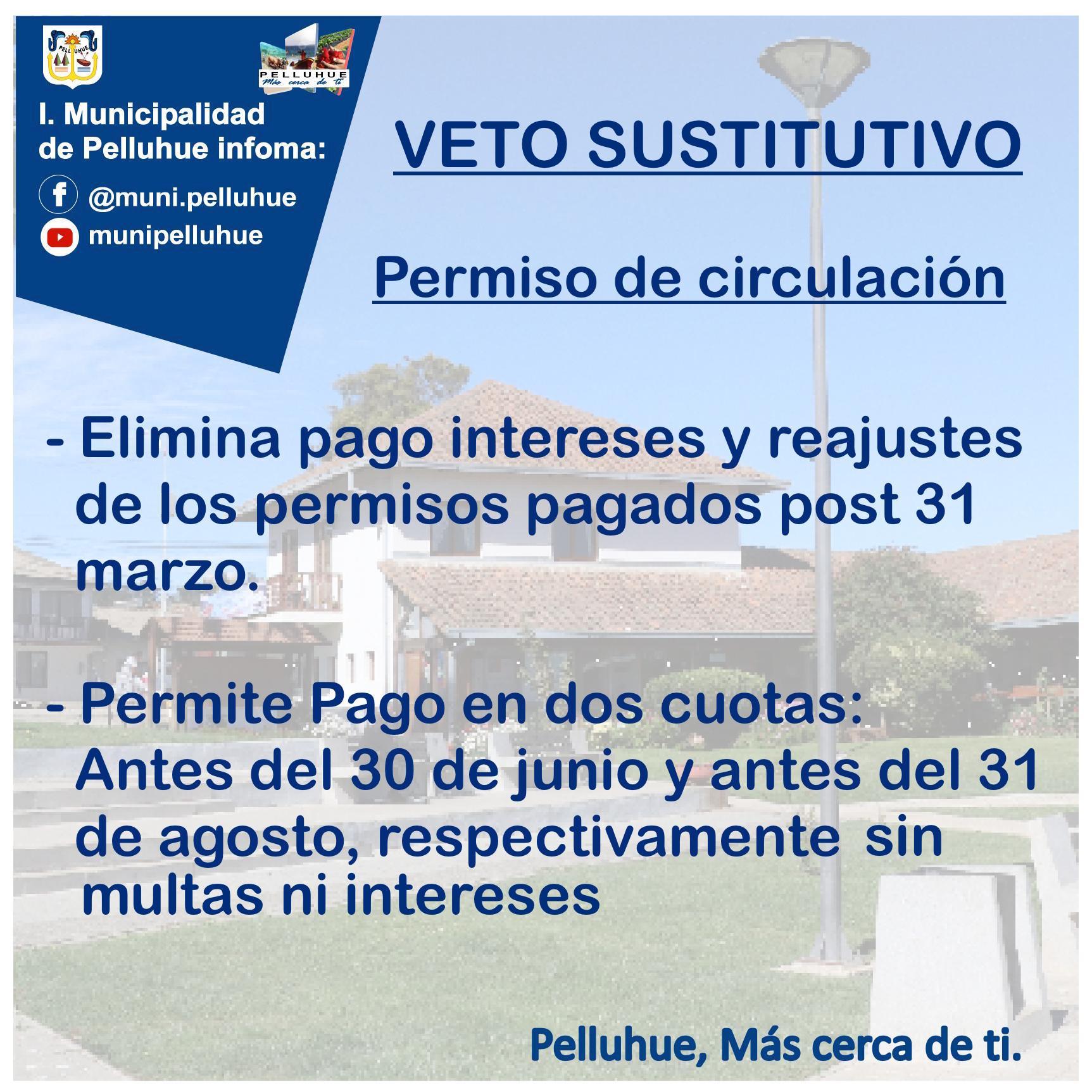 Ilustre Municipalidad de Pelluhue, a través de su Departamento de Transito informa: