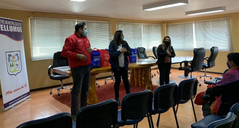 22 FAMILIAS DE PELLUHUE PERTENECIENTES AL PROGRAMA DEL SUBSISTEMA DE SEGURIDAD Y OPORTUNIDADES RECIBIERON KIT SANITARIOS.